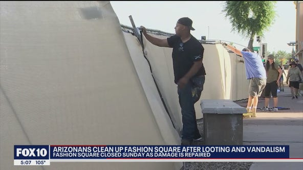 Cleanup efforts underway following unrest, looting at Scottsdale Fashion Square