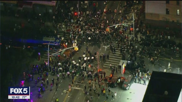 NYPD officers, cruisers targeted by protesters