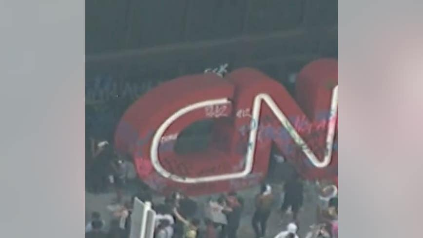 CNN Center heavily vandalized during Atlanta protest against death of George Floyd