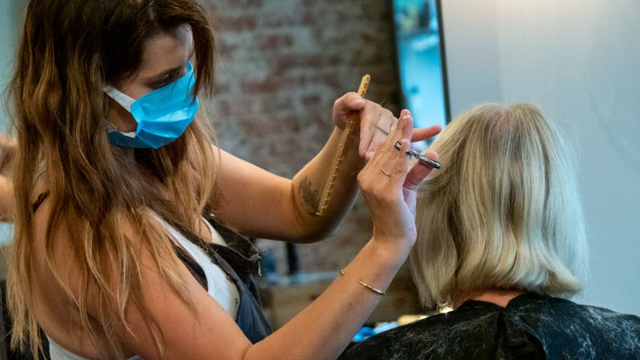 Beauty Salons, Barber Shops And Salons Reopen For Business In Ohio, USA