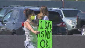 Protests outside Tempe Union High School District headquarters over return to school plans