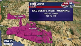 Excessive heat warning issued for 12 Arizona counties