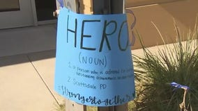 Valley healthcare workers show support for local law enforcement