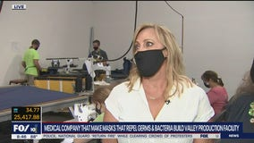 Medical company that makes bacteria-repelling masks builds new production facility