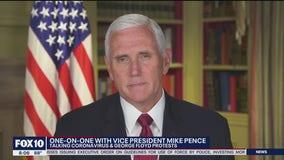 Vice President Mike Pence speaks on coronavirus cases in Arizona