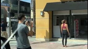 Social media users criticized for posing in front of damaged storefronts amid George Floyd protests