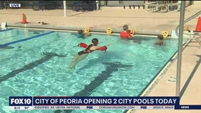 City of Peoria opening two pools