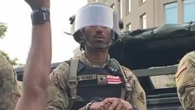DC National Guardsman captured on video chanting 'I'm black and I'm proud' with protesters