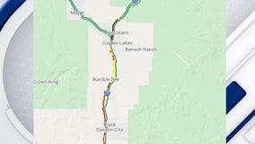 Major traffic backup on I-17 due to brush fire near Lake Montezuma