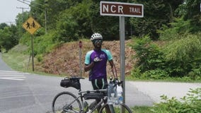 Man rides his bike for 276 miles to help people with Alzheimer's disease