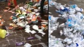 Video shows supplies littering sidewalk after NC police destroy volunteer medic tent during protest