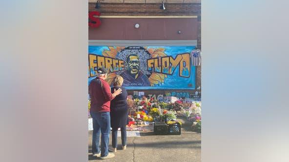 Gov. Walz makes unannounced visit to George Floyd memorial in Minneapolis