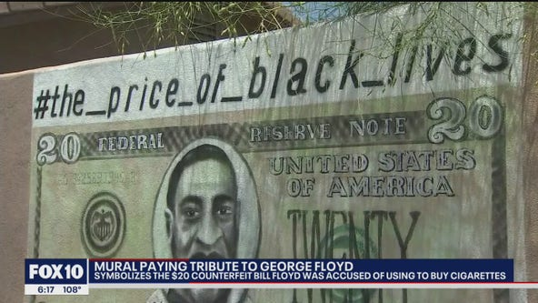 New York City artist creates powerful George Floyd tribute in the Valley