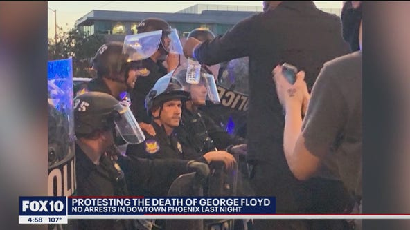 Community leader reacts to Phoenix Police officers kneeling during George Floyd protest