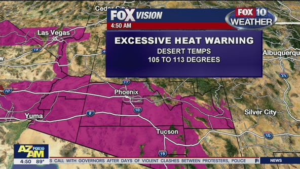 Excessive heat warning issued for Phoenix Metro area