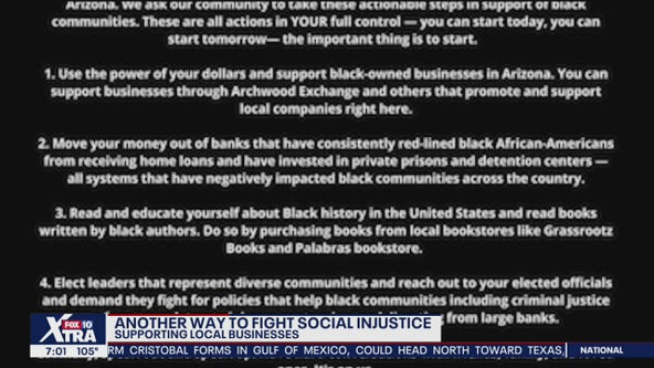 Beyond protests, Arizona-based group talks of other ways to support local black-owned businesses