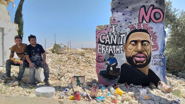 Syrian artists memorialize George Floyd with mural in war-torn city