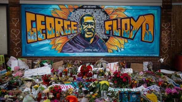 Family of George Floyd visits site of his death, memorial in Minneapolis