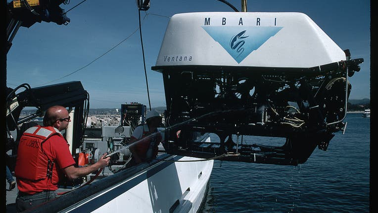 Submersible on Research Ship