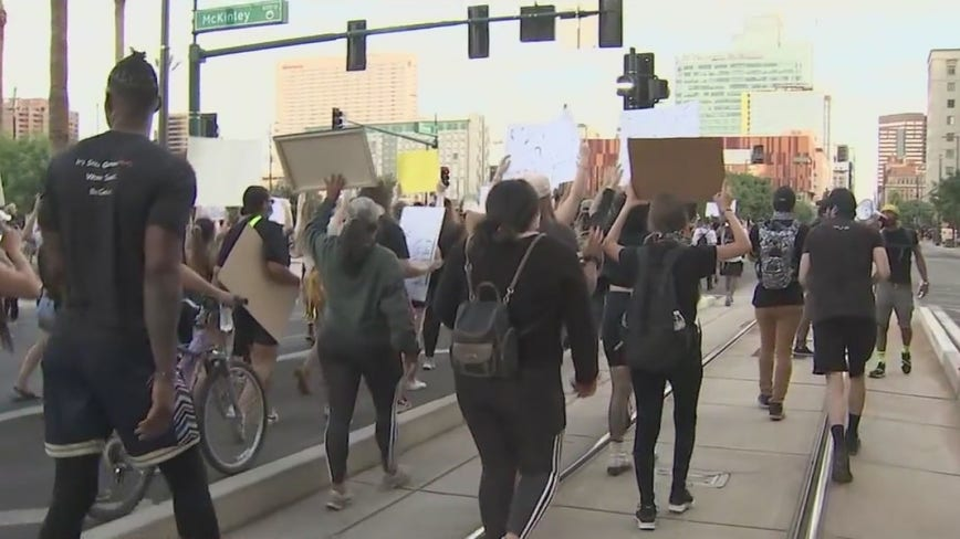 Protesters take different route during Thursday's protest over George Floyd's death