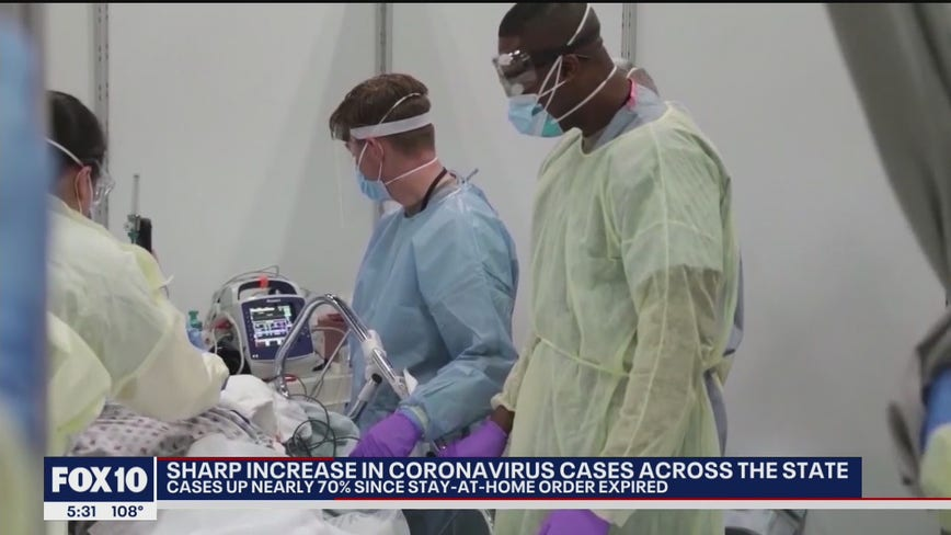 Gov. Ducey addresses rising number of coronavirus cases in Arizona during news conference