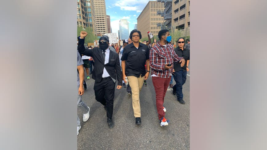 Phoenix Police Chief Jeri Williams among ranks of protesters in Downtown Phoenix