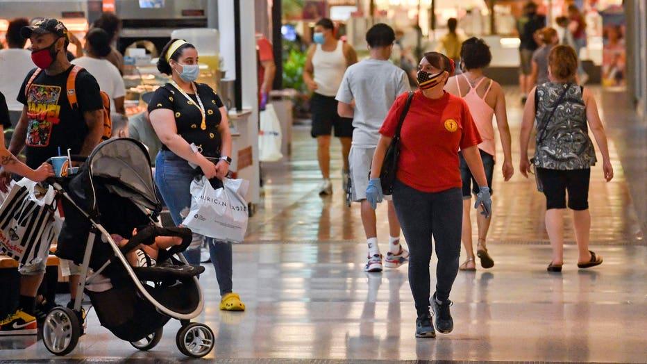 Shopping Mall In Pennsylvania Reopening As Coronavirus Shutdown Orders Ease