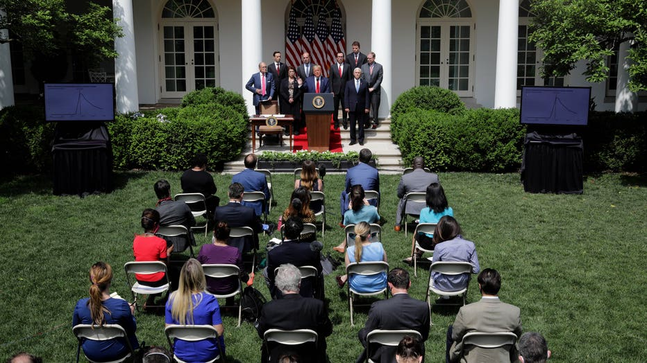 6ac48657-President Trump Holds A Press Conference At The White House
