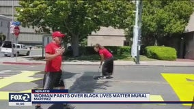 Vandals paint over Black Lives Matter mural in Martinez