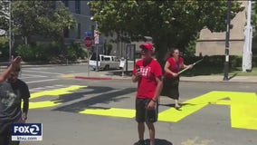 Pair charged with hate crime after defacing Black Lives Matter mural in Martinez