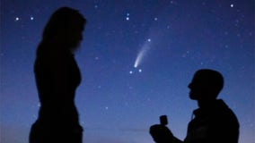 Couple captures stellar engagement photos under comet NEOWISE