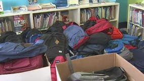 Valleywise Health gives away backpacks filled with school supplies to Maricopa County families