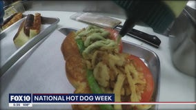 Taking a look at some special hot dogs at a Valley restaurant amid National Hot Dog Week