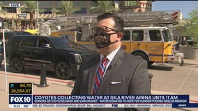 Coyotes collecting water donations to benefit Phoenix Rescue Mission