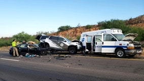 DPS: Tesla on Autopilot crashed into patrol vehicle on Interstate 10