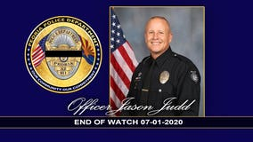 Drive-thru fundraiser held to benefit family of fallen Peoria Police Officer Jason Judd