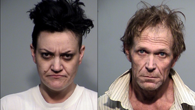 Two arrested on suspicion of several drug charges after K-9 officer finds meth, weed