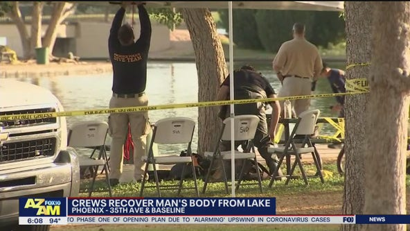 Phoenix Police recover body of man in Laveen lake