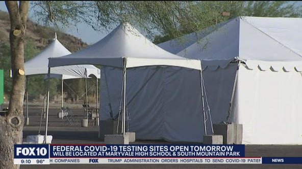 Federal COVID-19 testing sites open July 17 in Phoenix