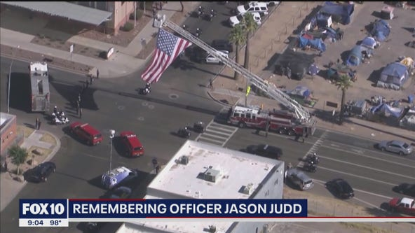 A community is in mourning over the loss of Peoria officer Judd
