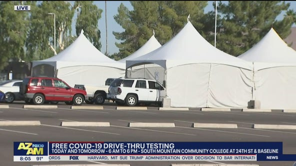 Free drive-thru COVID-19 testing event extended in south Phoenix