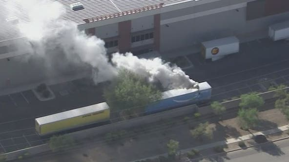 Phoenix firefighters responding to reported chemical leak at Amazon warehouse