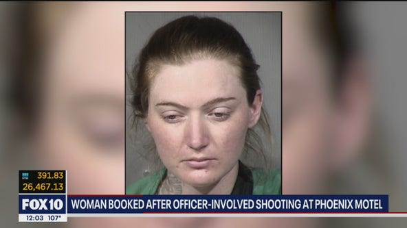 Police investigating officer-involved shooting outside Phoenix motel; woman arrested
