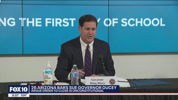 Arizona bars sue Gov. Ducey over order that closed down bars during COVID-19 pandemic