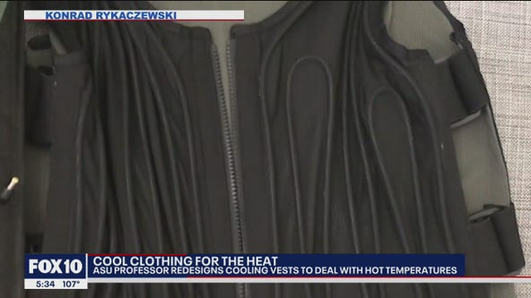 ASU professor redesigning cooling clothing to deal with Arizona's summer temperatures