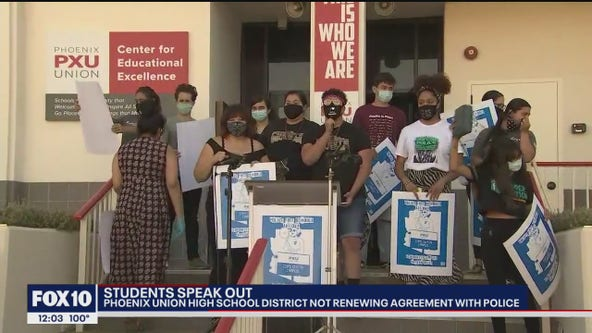 Students speak out after Phoenix Union High School District cuts ties with school resource officers