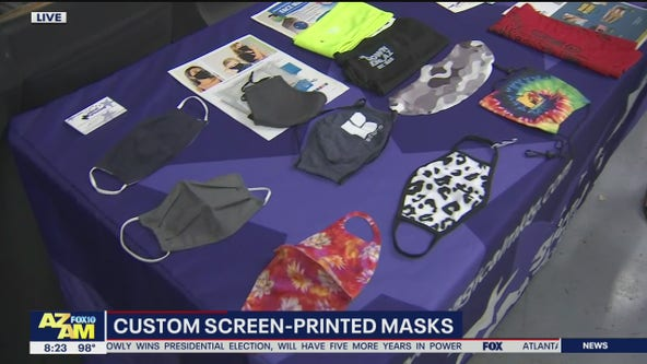 Valley print shop makes custom screen-printed masks