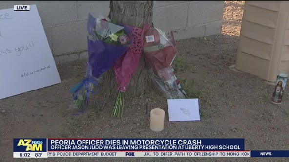 Peoria officer Jason Judd dead after motorcycle crash at Liberty High School