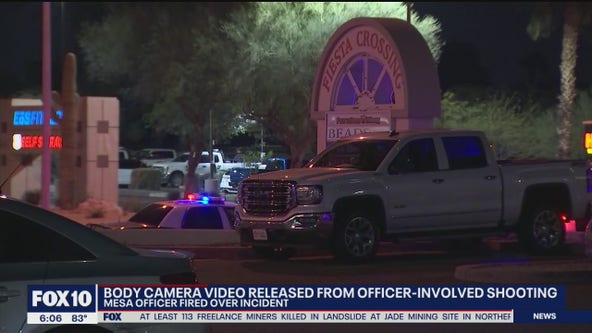 Body camera video released from Mesa police officer-involved shooting