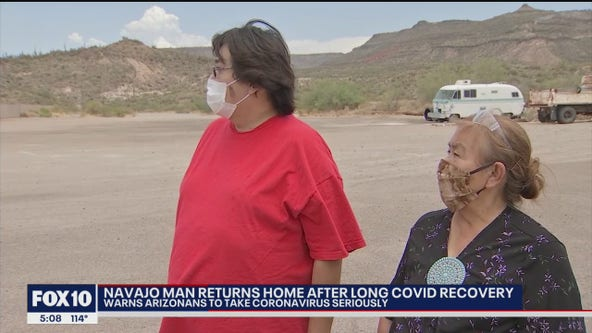 Navajo man fought COVID-19 for three months, finally gets to head home